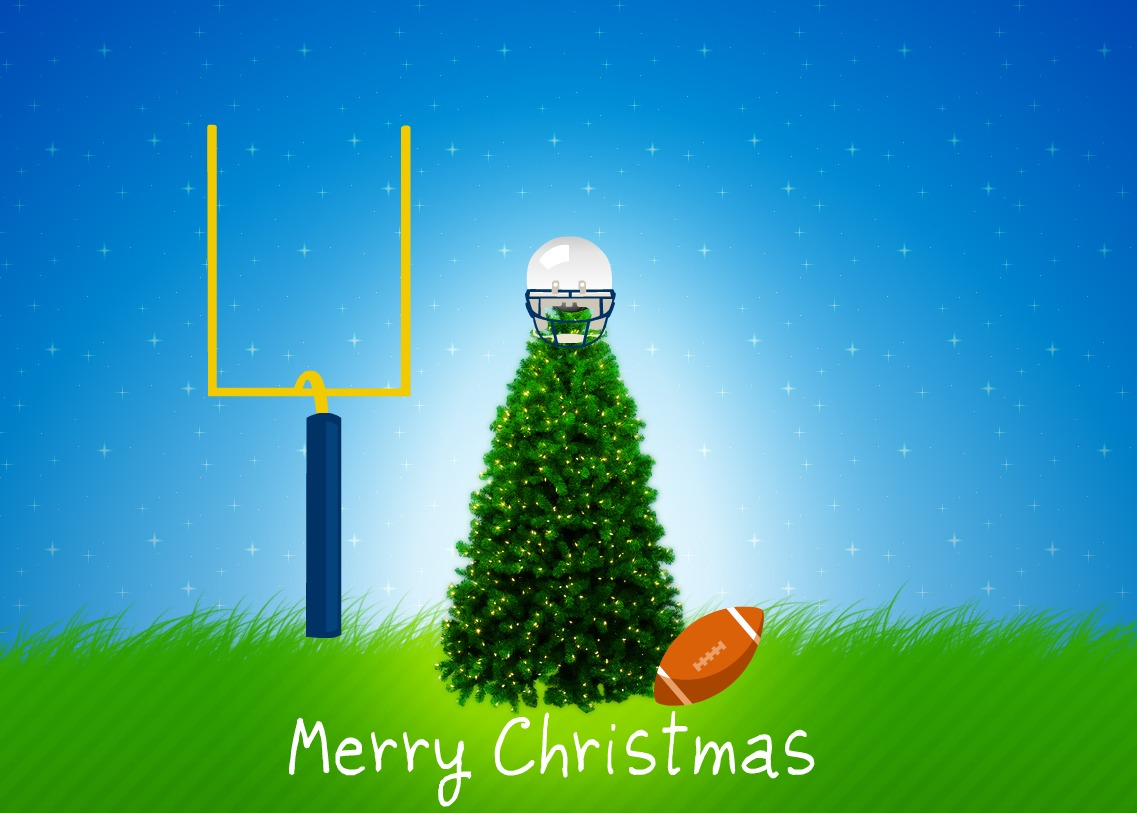 football christmas tree merry christmas - Nfl On Christmas 2014