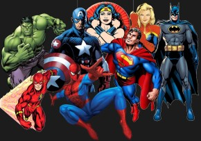 Superheroes-Collage-for-Webpage-webpage-background-color